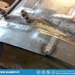 Floor repair - some new sheet metal already.
