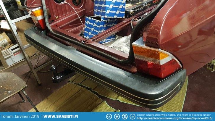Rear bumper installed