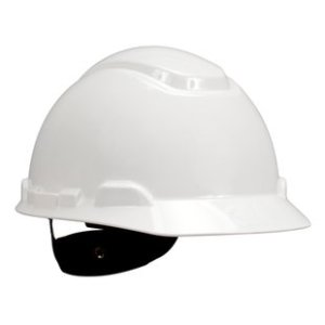3M H-701R Hard Hat, White 4-Point