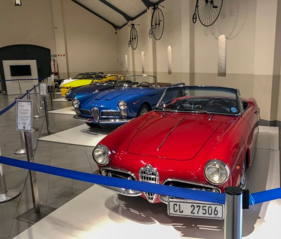 alfa romeo displayed at the franschhoek motor museum