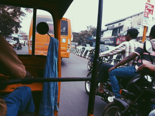 The cheap thrill of travelling in an auto.