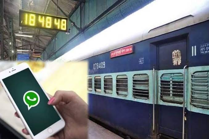 time updates of train on whatsapp
