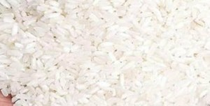 Plastic rice at ration store