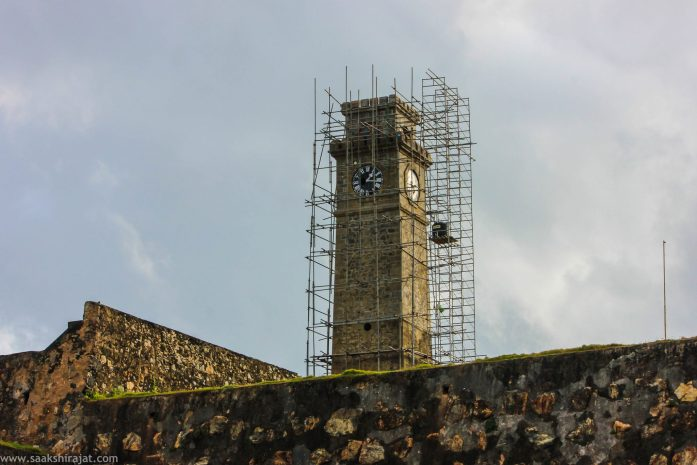 Clock tower in galle, srilanka