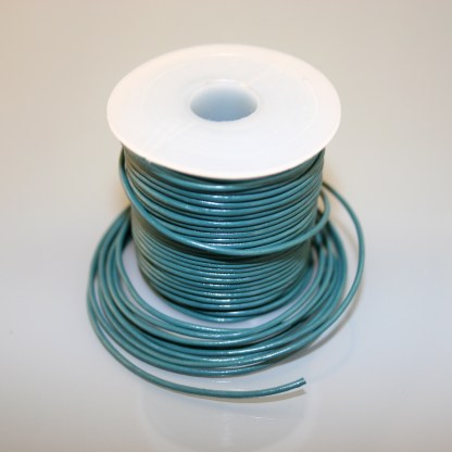Leather Cord - Dark Turquoise Blue