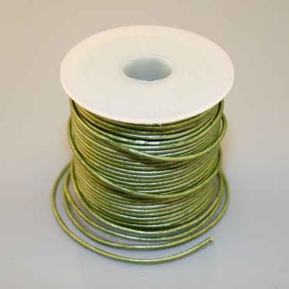 Leather Cord - Metallic Green