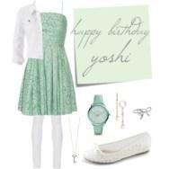 mint green lace - yoshi