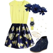 flower print poise skirt