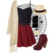 lace top and fringe