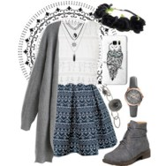 embroidered skirt and flower crowns