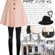 pastel pink wool coat