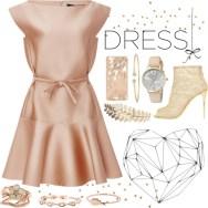 perfect part dress - dusty satin pink