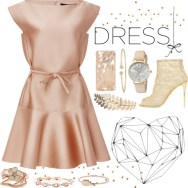 perfect part dress - dusty satin pink