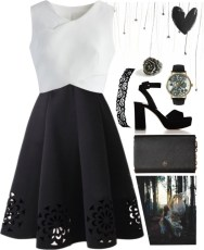 black and white floral wrap
