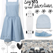 light blue pinafore