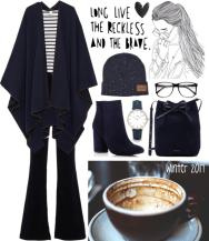 cape in a coffee shop