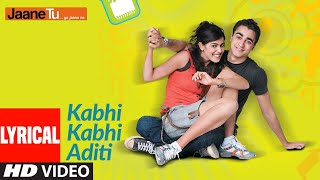 kabhi kabhi aditi lyrics
