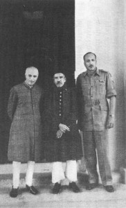 after surrender with Nehru and Chaudhury