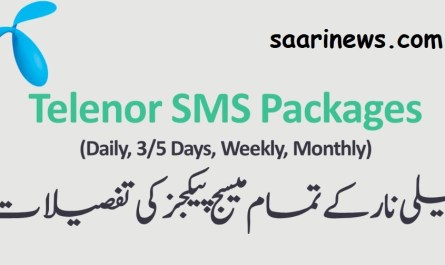 telenor sms packages details