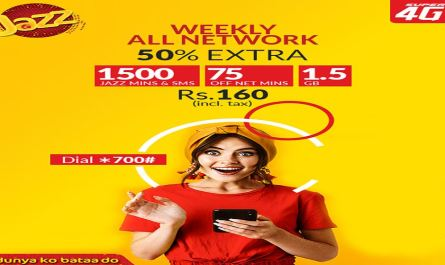 Now Get Jazz Weekly All Network Offer For Rs 160