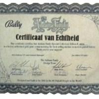Certificaat van echtheid