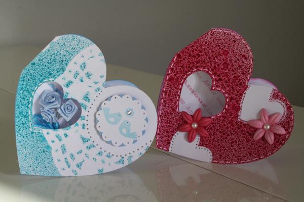 Carte en forme de coeur pour la Saint Valentin