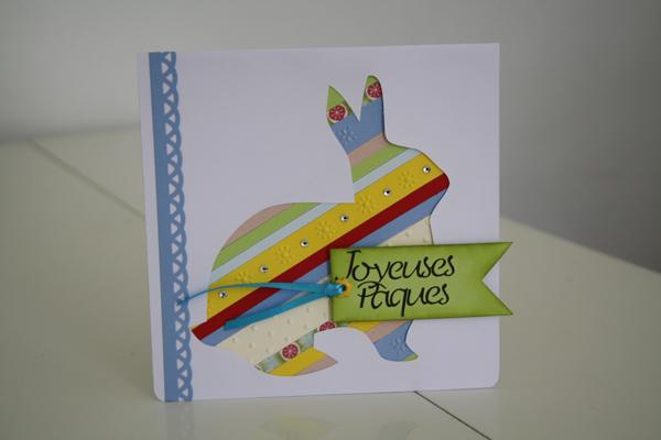 Un lapin multicolore (recycler ses chutes de papier)
