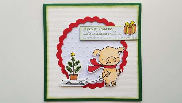 Petit cochon de Noël – scrap