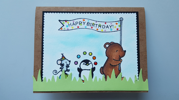 Carte scrapbooking pop-up – Anniversaire