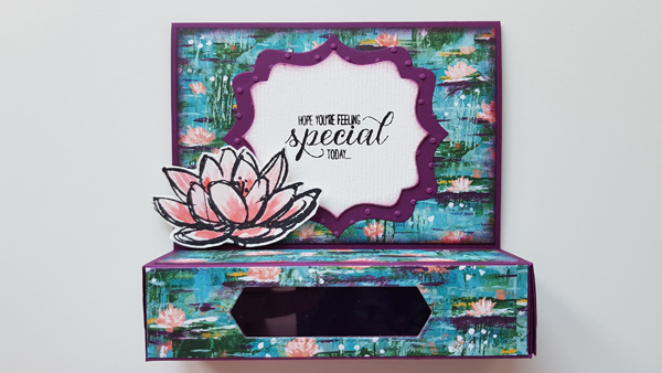 Tutoriel carte scrapbooking pop-up en cm et en pouces