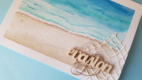 Carte «Evasion» plage et sable fin
