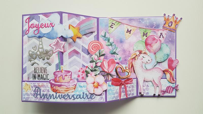 Carte d'anniversaire «Licorne»