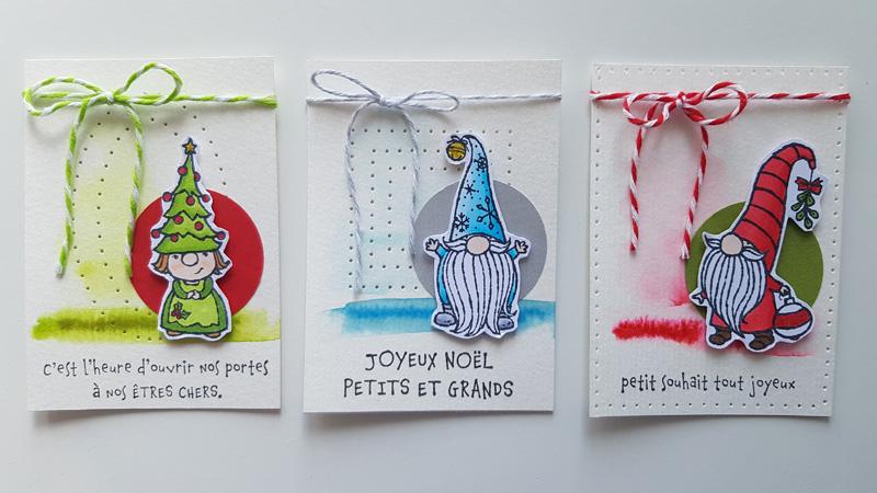ATC – Noël chez les gnomes de Stampin'up