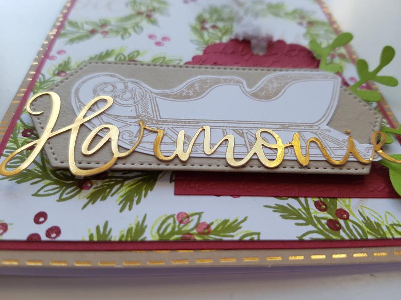 Paper pumpkin : Création d'un fond et mariage de plusieurs produits