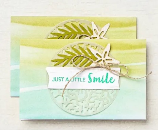 On réalise une carte ensemble avec le kit «Un petit sourire» de Stampin'up