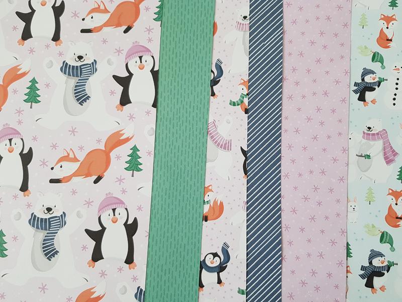 Papiers de la collection «Pingouin et ses amis»