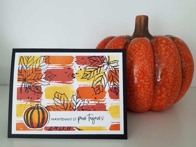Les couleurs de l'automne pour créer un fond de carte