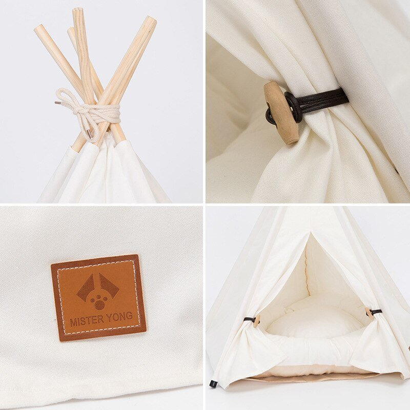 1Pc Cool Pet Teepee Bed