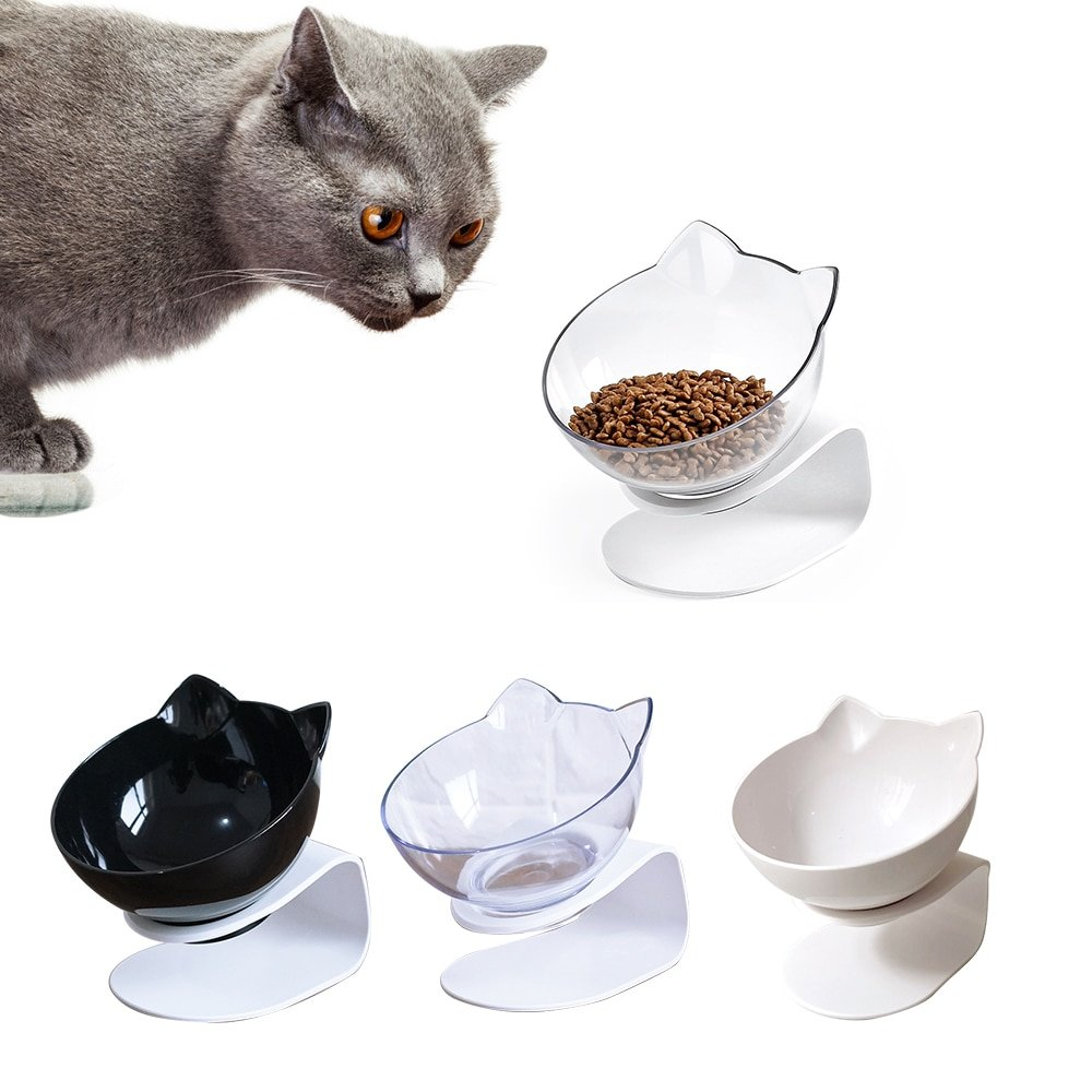 1Pc Easy Clean Cat Bowl With Stand