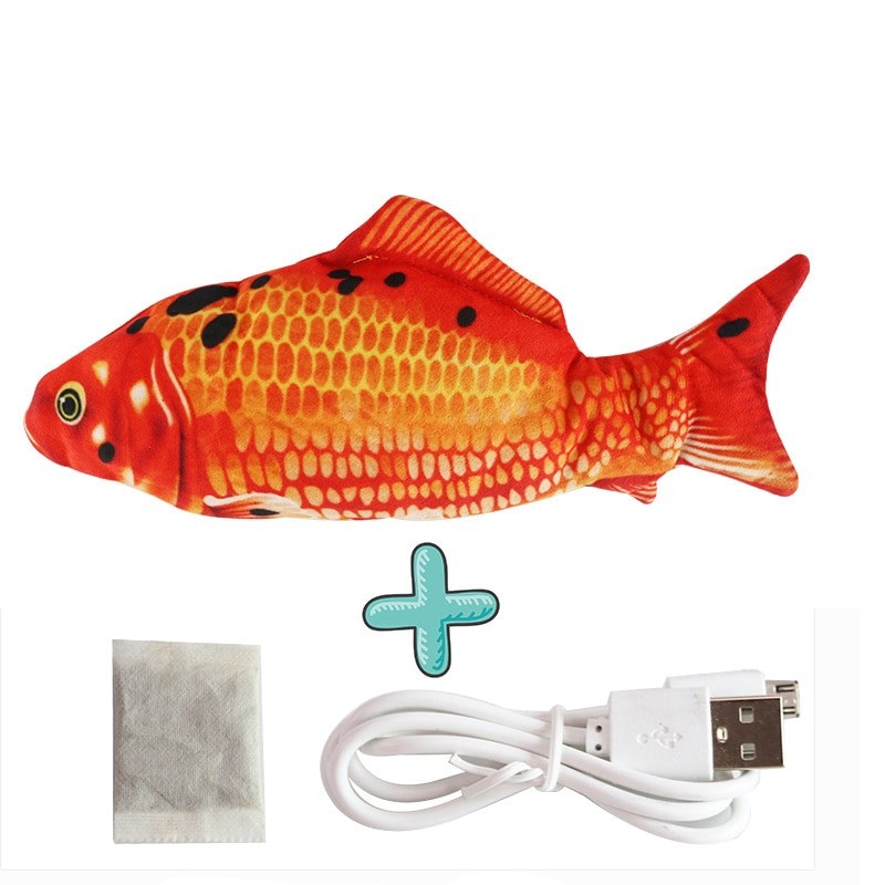 1Pc Cat USB Charge Interactive Fish Toy