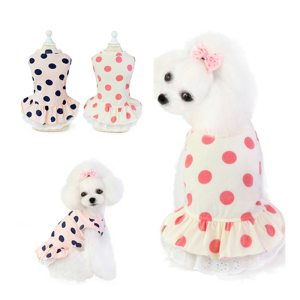 Summer Dot Dress for Small Dogs