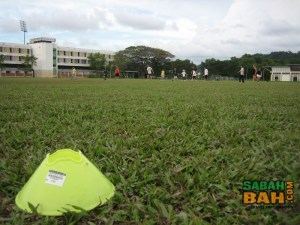 Playing field - nice and big for a good run while playing Ultimate Frisbee in Sabah