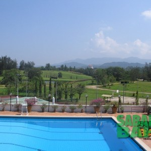 View from the Sabah Golf & Country Club's Club House patio