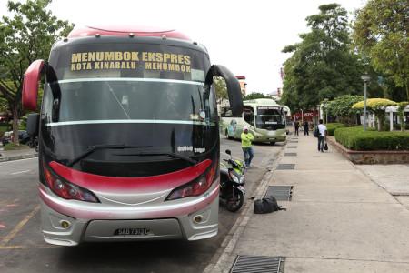 Longer Distance Buses in Kota Kinabalu, Sabah - Buses to Beaufort, Lawas, Sipitang, Brunei and Kuching, Sarawak