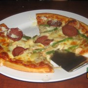 Pizza sample from the Upperstar in Segama Comlex near Hyatt
