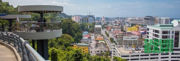 Signal Hill Observation Platform for good sunset views in Kota Kinabalu, Sabah