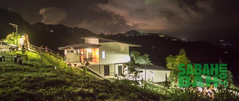 Nightshot of Ayana Holiday Resort, Kundasang, Sabah, Borneo