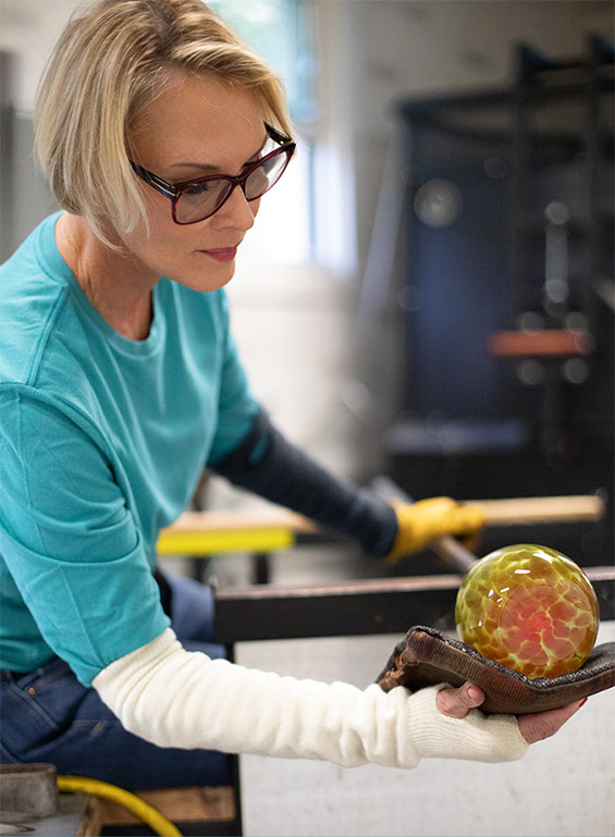 Meet Cheryl, Glassblower