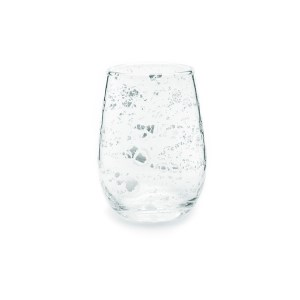 Silver Flake Wine Glass