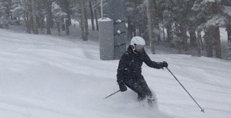 cheryl skiing